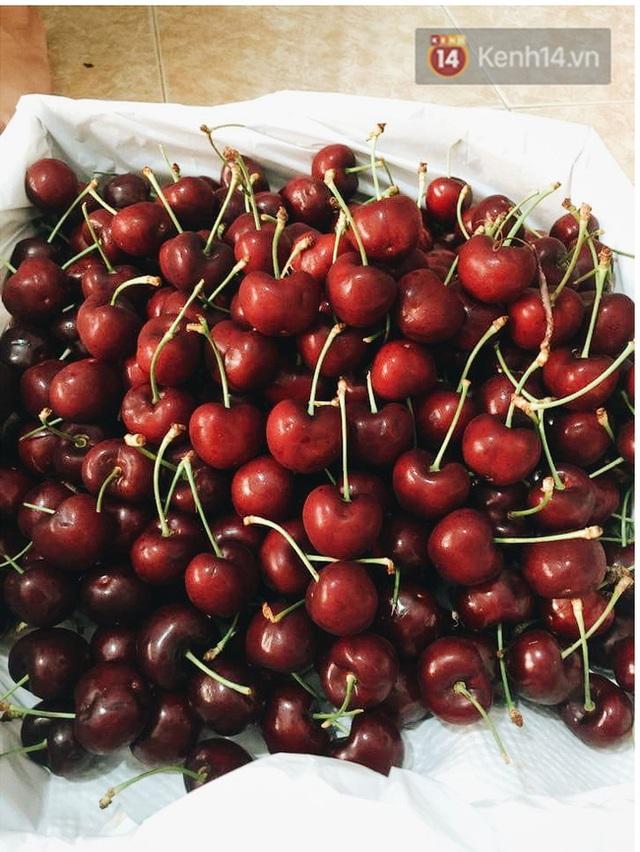 Những trái cherry này được một tiểu thương tại Hà Nội rao bán với giá chỉ 370.000 đồng/kg.