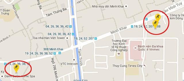3 điểm bán gần nhau của Thế Giới Di Động trên phố Minh Khai.