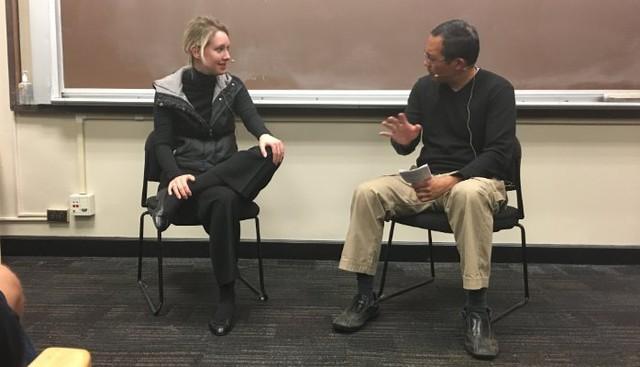 Elizabeth Holmes tại Stanford. Ảnh: Media.licdn