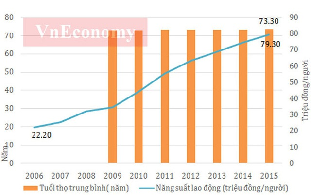 Theo số liệu của Tổng cục Thống kê, tỷ lệ thất nghiệp ở Việt Nam trong suốt 10 năm qua đều có xu hướng giảm và đều dưới 5,4%. Đây là mức thấp nếu so với nhiều nền kinh tế trên thế giới.  Tuy tỷ lệ thất nghiệp không cao (tỷ lệ thất nghiệp chung trong độ tuổi lao động hiện nay khoảng 2,2%, trong đó khu vực thành thị 3,6%), nhưng xét về góc độ vị thế việc làm thì lao động Việt Nam chủ yếu là làm các công việc gia đình hoặc tự làm các công việc này thường có thu nhập thấp, bấp bênh, không ổn định.  Trong khi đó, lực lượng lao động từ 15 tuổi trở lên đã vượt 50 triệu người kể từ năm 2010. Đây là là điều kiện tốt cho quá trình phát triển kinh tế với lực lượng lao động dồi dào - Nguồn: Tổng cục Thống kê.          Tỷ lệ hộ nghèo ở Việt Nam liên tục giảm trong thời gian qua, và tới năm 2015 tỷ lệ hộ nghèo đã xuống dưới 5%, từ mức trên 14% năm 2006 - Nguồn: Tổng cục Thống kê.       Số doanh nghiệp và số vốn (tỷ đồng) giai đoạn 2011 - 2015 - Nguồn: Cục Quản lý đăng ký kinh doanh - Bộ Kế hoạch và Đầu tư.  Bài phát biểu đầy cảm xúc của Thủ tướng Nguyễn Tấn Dũng