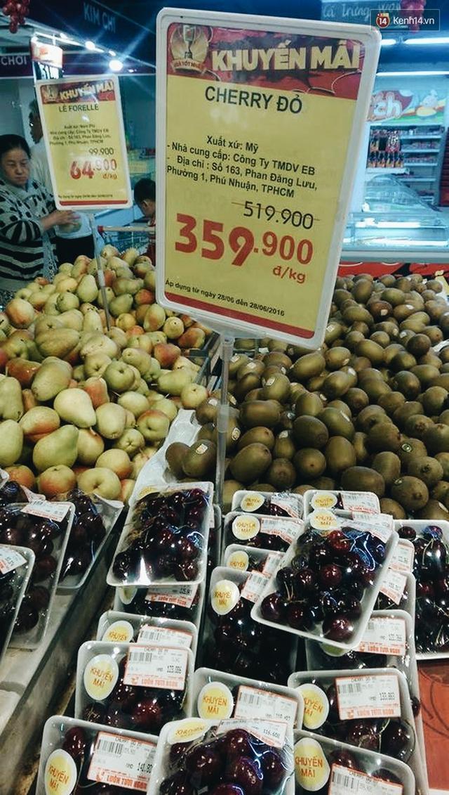 Giá bán cherry mỗi nơi mỗi khác.