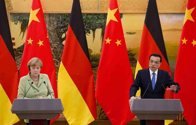 Thủ tướng Merkel và Thủ tướng Lý Khắc Cường