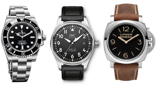 Ảnh 2: Đồng hồ Rolex Submariner, IWC Pilot Mark XVIII, và Panerai Luminor 1950 là những lựa chọn lý tưởng.