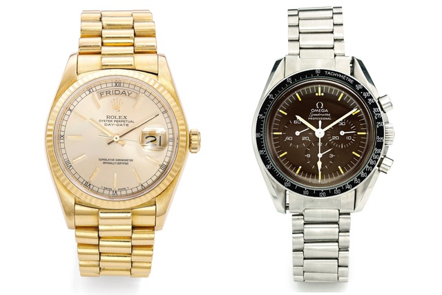 Ảnh 5: Đồng hồ Rolex Day-Date và Omega Speedmaster Professional