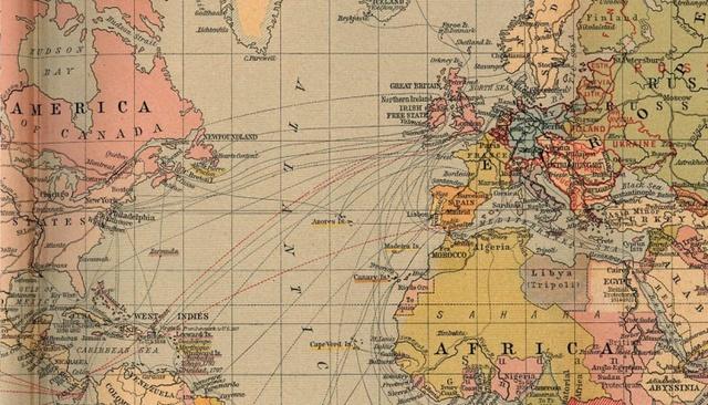 Các tuyến vận tải đường biển năm 1912.