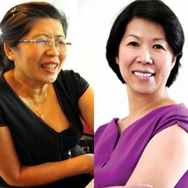 Bà Ánh Hoa và Ánh Hồng, chị em gái của ông Hạnh Nguyễn, 2 nữ sáng lập hệ thống siêu thị Maximark và Citimart. (Hiện Maximark đã về tay Vingroup, Citimart bán 49% cho AEON).