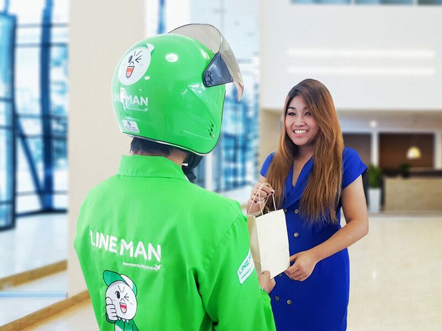 Hiện tại Line Man mới chỉ thử nghiệm ở Băng Cốc, Thái Lan.