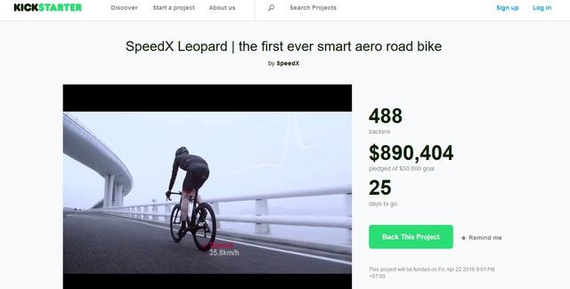 Dự án đã thu hút được tới gần 1 triệu đô, dù còn 25 ngày để tiếp tục gọi vốn.