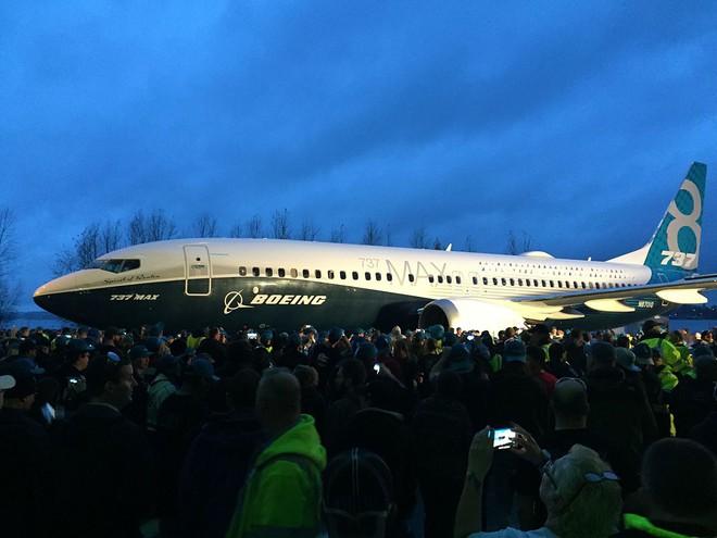 Hình ảnh của chiếc Boeing 737 MAX 8, được giới thiệu vào tháng 12/2015.