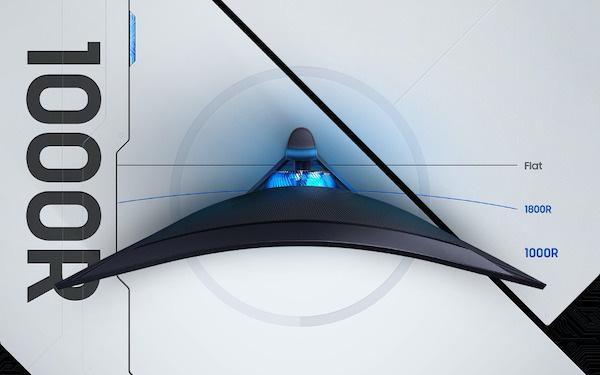 Samsung tiên phong màn hình gaming 'siêu cong' với Odyssey G5