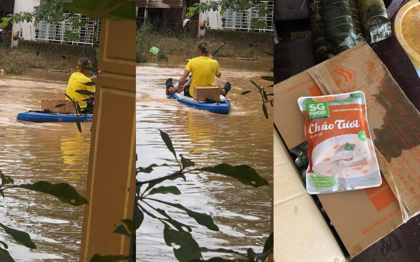 Nước sạch và thực phẩm cho vùng lũ, cần suy nghĩ thêm cho người nhận tiếp tế