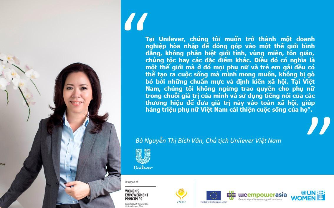 Unilever Việt Nam thúc đẩy trao quyền cho phụ nữ