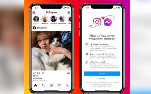 Facebook thực hiện cập nhật lớn đầu tiên trong kế hoạch liên kết Instagram, Messenger và WhatsApp
