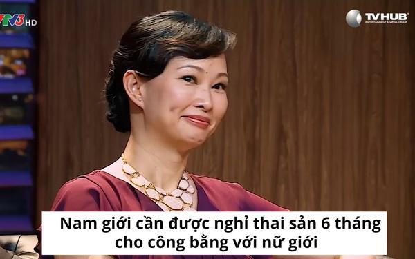 Shark Linh đề xuất cho nam giới nghỉ thai sản 6 tháng để công bằng với phụ nữ