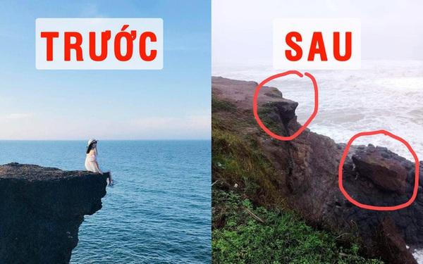 Bão đánh sập địa điểm du lịch nổi tiếng ở Quảng Trị, vị trí check in 'huyền thoại' cũng không còn nữa