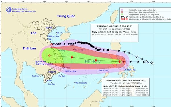 Bão số 9 rất mạnh, gây mưa lớn nhiều ngày ở miền Trung