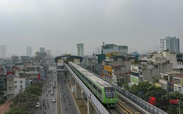 Hình ảnh đoàn tàu Cát Linh - Hà Đông trong ngày đầu chạy thử
