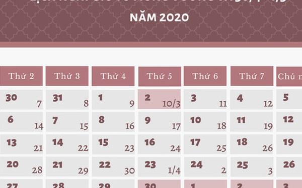 Giỗ Tổ Hùng Vương và dịp 30/4 - 1/5 năm nay được nghỉ mấy ngày?