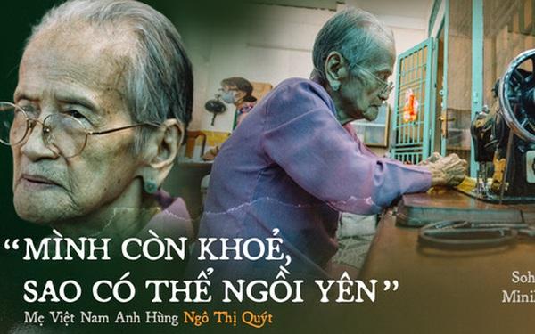 Mẹ Việt Nam Anh hùng 97 tuổi may khẩu trang tặng người nghèo phòng dịch Covid-19