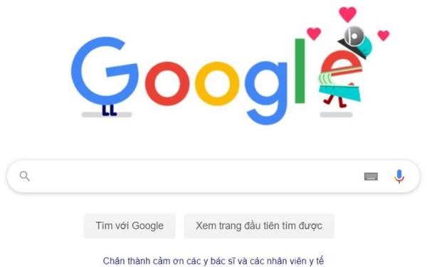 COVID-19: Google cảm ơn sự hy sinh thầm lặng của y bác sĩ - Ảnh 1.