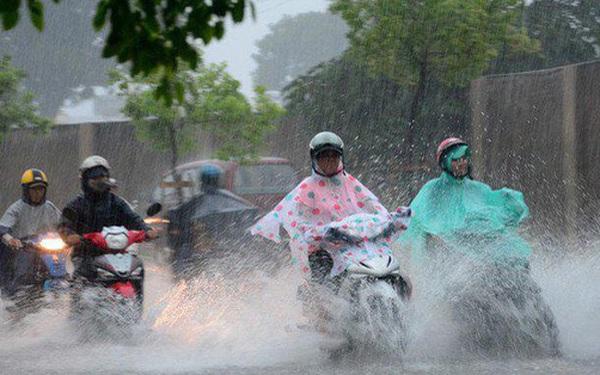 Đón không khí lạnh giữa mùa hè, Hà Nội và các tỉnh Bắc Bộ mưa dông diện rộng