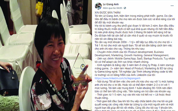 Mẹ mắc ung thư giai đoạn cuối, con trai XIN ĐƯỢC BÁN THÂN vay trả dần, làm không lương lấy tiền chữa bệnh cho mẹ