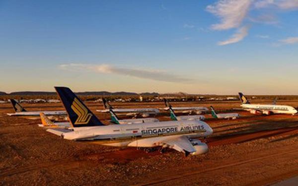 La liệt máy bay nằm không tại sân bay trên khắp thế giới