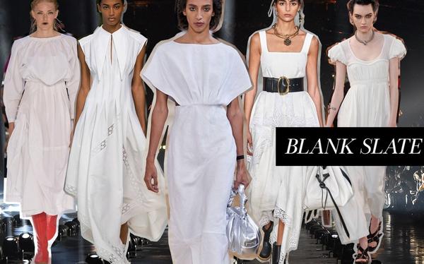 Ba fashionista đình đám biến hoá trong trang phục trắng tinh khiết của NTK Công Trí