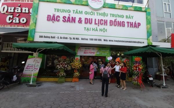 """Hỗ trợ khởi nghiệp hết mình như Đồng Tháp: Khai trương cửa hàng đặc sản đầu tiên tại Hà Nội chuyên giới thiệu sản phẩm của startup đất """"Sen hồng"""""""
