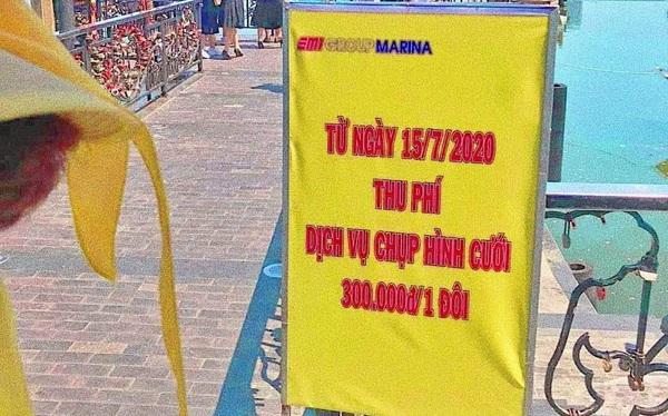 Cô dâu, chú rể phải trả 300 nghìn đồng để chụp ảnh ở cầu tình yêu Đà Nẵng