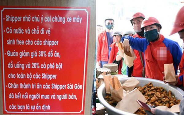 Quán ăn dán tờ giấy đặc biệt khiến tất cả trầm trồ, cánh shipper là mừng nhất