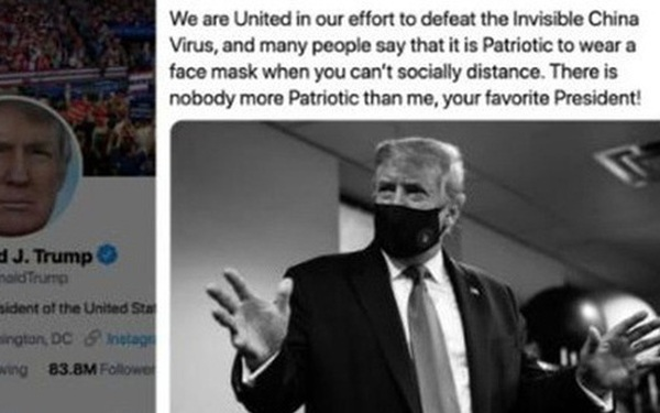"""Cuối cùng Tổng thống Trump nói """"đeo khẩu trang là yêu nước"""""""