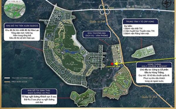 """Siêu đô thị vệ tinh Hòa Lạc hơn 17.000ha đang quy tụ những """"ông lớn"""" BĐS, dự án nào?"""