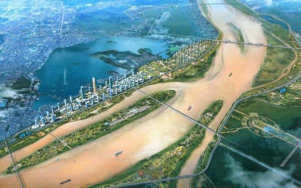 Đường ven sông Hồng ở Hà Nội thiết kế 2 bậc, có cầu như ở Seoul