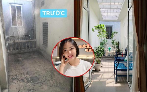 Ngẩn ngơ trước màn hô biến ban công 6m² từ xơ xác tiêu điều thành góc chill vạn người mê chỉ 7 triệu của cô gái Hà Nội
