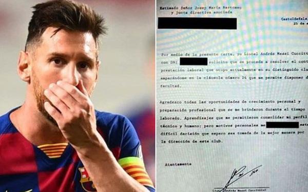 Lộ nội dung 'mật thư' phũ phàng của Messi gửi đến Barcelona