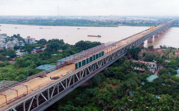 Toàn cảnh đại công trường sửa chữa cầu Thăng Long, Hà Nội