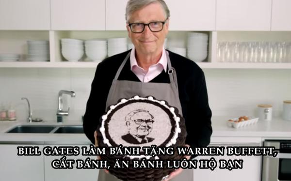 Món quà 'ngọt hơn đường' Bill Gates tự tay làm tặng sinh nhật thứ 90 của Warren Buffett