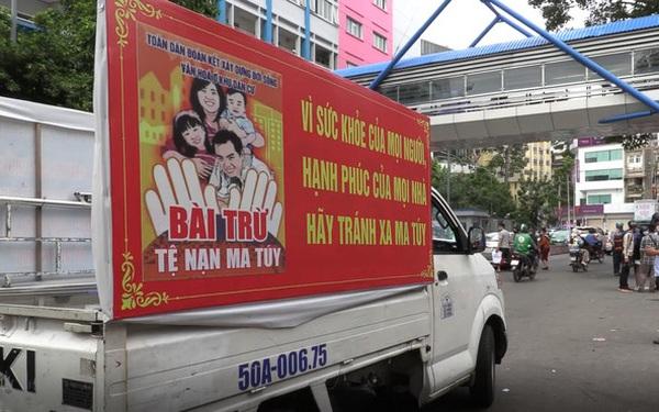 TP.HCM ngày đầu ra quân xử phạt người không đeo khẩu trang nơi công cộng: Xe phường bật loa tuyên truyền đến từng ngõ hẻm, hàng quán