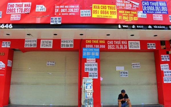Mặt bằng kinh doanh cho thuê ở các tuyến phố lớn đìu hiu, giá thuê lao dốc vì dịch Covid-19
