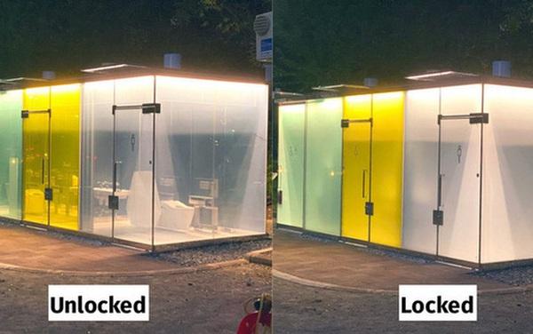 Độc đáo nhà vệ sinh trong suốt tại Nhật Bản, khi có người sử dụng sẽ tự động làm mờ để bảo vệ sự riêng tư