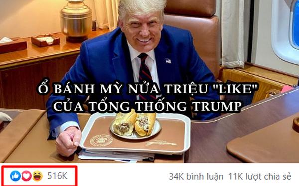 Bức ảnh ông Trump ăn bánh mì kiểu Việt gây bão, hút hơn nửa triệu like chỉ sau 8 giờ