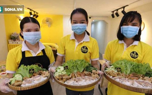 Nghiện bún đậu mắm tôm Việt Nam, cô gái Campuchia mở quán giữa PhnomPenh, một đĩa nhỏ giá hơn 100.000 đồng