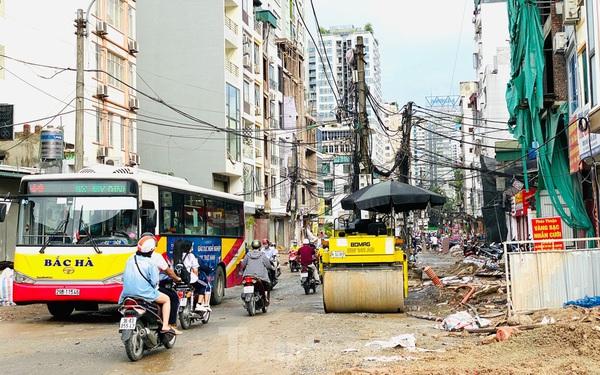 Tuyến đường dài hơn 400 mét ở Hà Nội thi công ba năm chưa về đích
