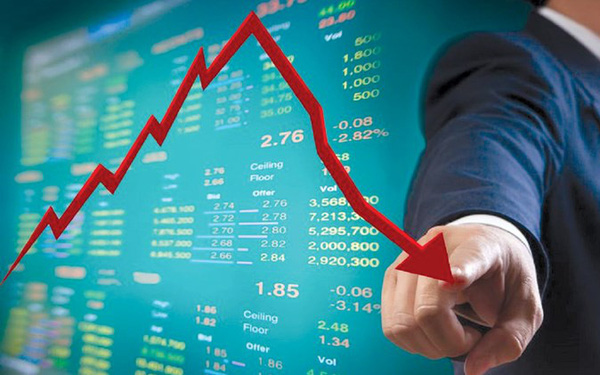 VN-Index giảm gần 40 điểm, thủng mốc 1.100