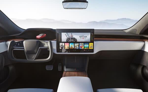 Tesla ra mắt phiên bản Model S mới: Là xe có khả năng tăng tốc nhanh nhất thế giới, nội thất của tương lai, có thể chơi được cả game The Witcher 3