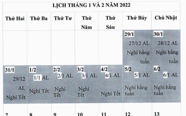 Nhiều ý kiến trái chiều quanh đề xuất nghỉ Tết Nguyên đán 2022 kéo dài 9 ngày: Bộ LĐ-TB&XH lên tiếng
