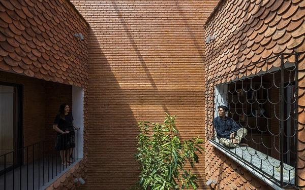 """Độc đáo căn nhà """"vảy cá"""" có 4 mái hiên ở Tây Ninh"""