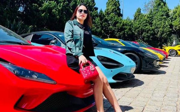 Dàn siêu xe trăm tỷ sặc sỡ hội ngộ tại Đà Lạt, Ferrari F8 Tributo của nữ đại gia trẻ mới sắm cũng góp mặt