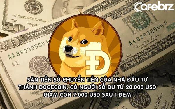 Sàn tiền số ngang nhiên chuyển toàn bộ tiền của nhà đầu tư thành Dogecoin, có người số dư giảm từ 20.000 USD xuống còn 7.000 USD sau 1 đêm
